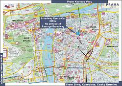 Prague car rental map